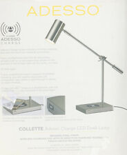 Pottery Barn Adesso Lamp(charging Station USB/wireless) New