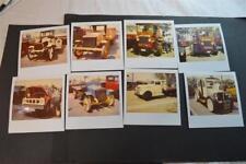 Vintage Polaroid Photos Old Trucks at Show Chevy Autocar Studebaker 906019