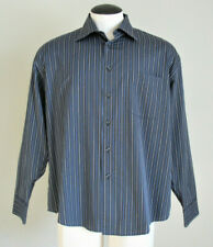 Pronto Uomo NEW Men's Gray Striped Long Sleeve Dress Shirt Size XL