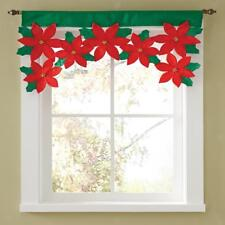 Flower Door Window Drape Panel Christmas Curtain Xmas Home Party Decoration