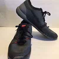 Nike Mens Sz 13 Free Trainer 749361-001 3.0 V4 Black Grey Orange Running Shoes