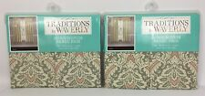 "2 Sets Waverly Panel Pairs Curtains Donnington Clay Damask 104"" Wide x 63"" Long"