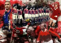 Manchester United  Legends Canvas Print A3