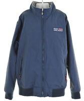 MAUI AND SONS Boys Blouson Jacket Size 12 Medium Blue Nylon