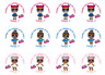 48 Personalised LOL Dolls Party Bag Stickers Sweet Bag Seals 40mm Cone Labels