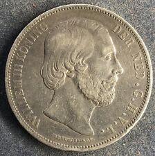 2 1/2 Gulden 1870 Niederlande Willem III .945 Silber 25 g KM#82