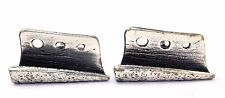 BIG & RARE Vtg GUY VIDAL Silver PEWTER Canadian BRUTALIST Folded Metal Cufflinks