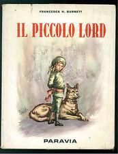 BURNETT FRANCESCA IL PICCOLO LORD PARAVIA 1959 LE GEMME D'ORO LUIGI BIFFI
