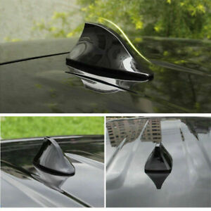 Car Universal Black Shark Fin Roof Antenna Aerial FM/AM Radio Signal Decor Cover
