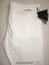 NEW $425 men INCOTEX 40 W RAY REGULAR FIT 5 POCKET JEANS PANTS WHITE COTTON