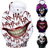 Halloween Funny haha Joker Men women 3D Sweatshirt Hoodies Hip Hop Dress Tops