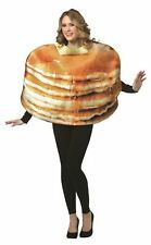 GET REAL STACKED PANCAKES funny mens womens unisex halloween food costume