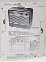 Vintage Sams Photofact Folder Radio Parts Manual Knight Model 449