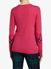 NWT $525 Burberry Size L Large Cashmere 'Genil' Sweater V Neck