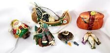 Lot Of 5 Fishing Themed Christmas Ornaments