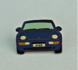 Porsche Lapel Badge, 968 Blue