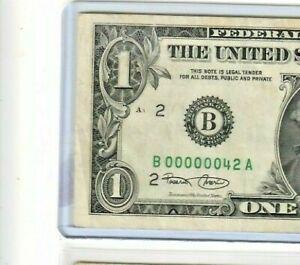 """00000042"" ""LOW SERIAL"" 2001 ""LOW SERIAL"" $1 ""LOW SERIAL""(00000042) CRISPY!!!"