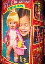 VTG 1978 Mattel Baby Magic Tender Love Doll Original Box-Accessories Tricks-NIB