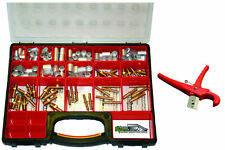 Air Hose Repair Kit with Fittings, Ferrules, Container & Cutter (no crimper)