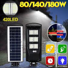180W Luz LED 576 Wall Street Panel Solar para Jardín Aire Libre Lámpara de control remoto