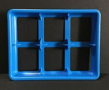 2005 MEMORY GAME Replacement Piece Part BLUE 6 Compartment CARD HOLDER TRAY