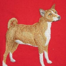 Embroidered Ladies Short-Sleeved T-Shirt - Basenji C9658