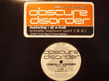 """OBSCURE DISORDER - LYRICALLY EXPOSED (PART ONE + PART TWO) (12"""")  1997!!  RARE!!"""