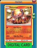 Volcanion - 25/214 Unbroken Bonds PTCGO Online Digital Card