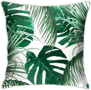 Pillow Covers Throw Cover Cases For Couch Green Tropical Palm Leaves Jungle Fore