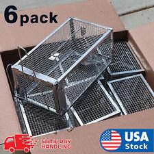 6pcs Live Humane Cage Mouse Trap Rat Hamster Catch Control Bait Hunting Survival