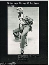 Coupure de presse Clipping 1973 (25 pages ) Collections haute Couture