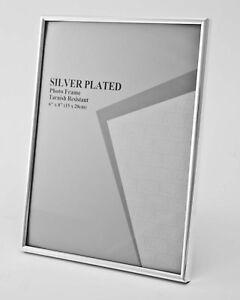 "Silver Photo Picture Frame 2.5x3.5"", 3.5x5"", 4x6"", 5x7"", 6x8"" & 8x10"" Shiny Thin"