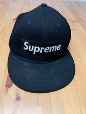Supreme New Era fitted hat cap Wool 7 1/4