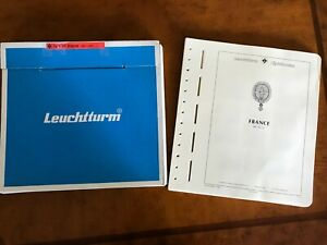 LIGHTHOUSE SF Hingeless stamp album pages for FRANCE 1970-79 with mounts ~ NEW!