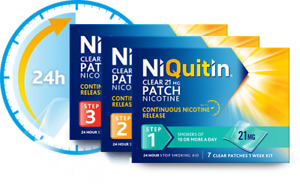 niquitin patches step 1, 2, 3    £9.99 a packet