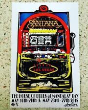 SANTANA CONCERT POSTER Signed #d PROOF FLYER LAS VEGAS MANDALAY BAY Woodstock