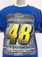 2010 Jimmie Johnson 5x Champion Blue T-Shirt sz M LOWES #48