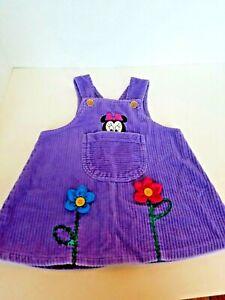 Disney Baby Minnie Mouse Jumper Toddler Girls Purple Size 18 Mo Cute Peek a boo