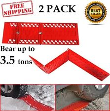 Foldable Traction Mats Car Escaper Pad Snow Ice Sand Mud Grip Unstuck 2 Pack