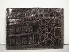 Nancy Gonzalez black crocodile leather card case box new authentic Sale Present