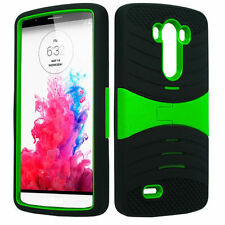ARMOR BLK/GRN Ucase Phone Case Cover For LG G3 / D855 D850 VS985 D851 LS990