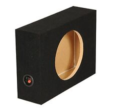 "Q-Power Shallow Single 10"" Sealed Truck Subwoofer Box, 18.25 x 14.5 x 5.25 Inch"