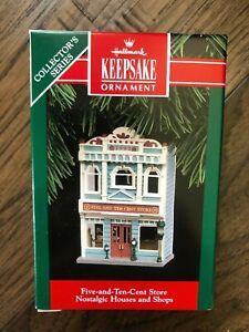 HALLMARK 1992 NOSTALGIC HOUSES AND SHOPS FIVE AND TEN CENT SHOP  # 9 IN SERIES