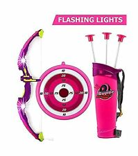 Toysery Bow and Arrow for Kids Set with LED Flashing Lights   Archery Set   A...