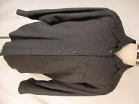 Zanella Mens Charcoal Herringbone Long Sleeve Shirt L