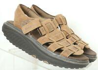 Skechers 12295 Shape Ups Brown Walking Rocker Toning Sandals Women's US 6