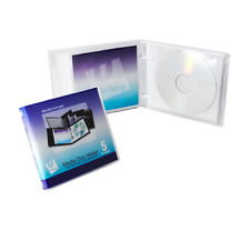 Disc 5 CD/DVD Wallet with Pages - Pack of 5 - Clear
