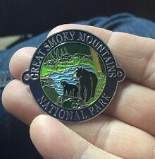 Two Black Bear Great smoky Mountains GSM TN NC walking Stick Hiking Medallion
