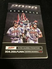 2020 Richmond Flying Squirrels Baseball Pocket Schedule Giants Farm Team