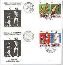 10362-Uniformes Militaires-FDC couverture: Antigua et Barbuda 1976 - 2 couvre